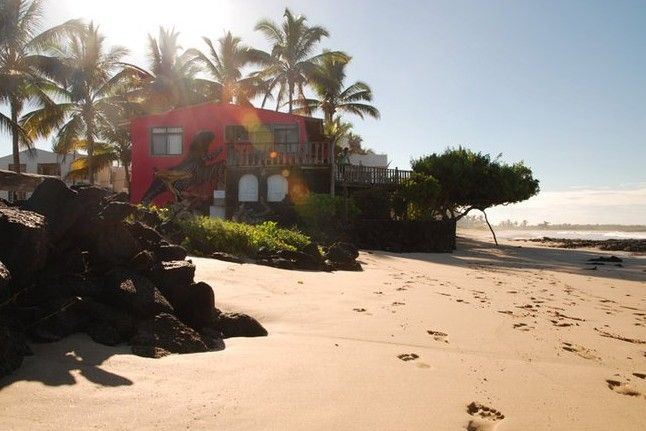 A beach hotel on Isabela Island - Caleta Iguana