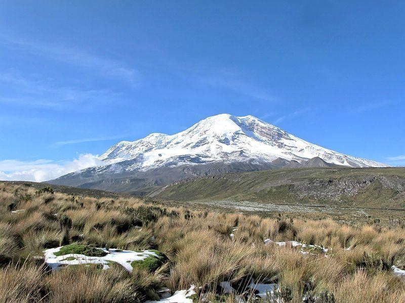 Chimborazo volcano from Carihuairazo