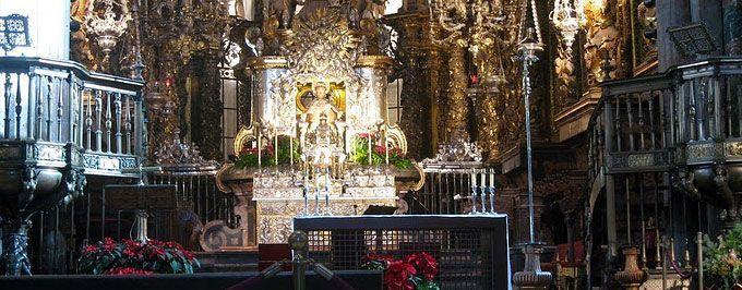 Interior of Santiago de Compostela Cathedral