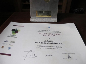 Adegas Ladairo Galician Red Wine of the Year, 2011