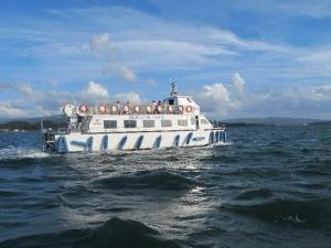 Pleasure boat on Ria de Arousa