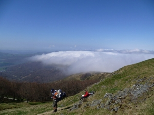 Start of Camino views of Spain-Roncesvalles Pass