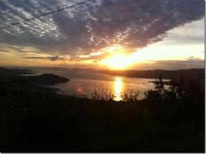 Sunset looking out across Vigo estuary
