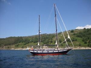 Yachting near the Islas Atlanticas