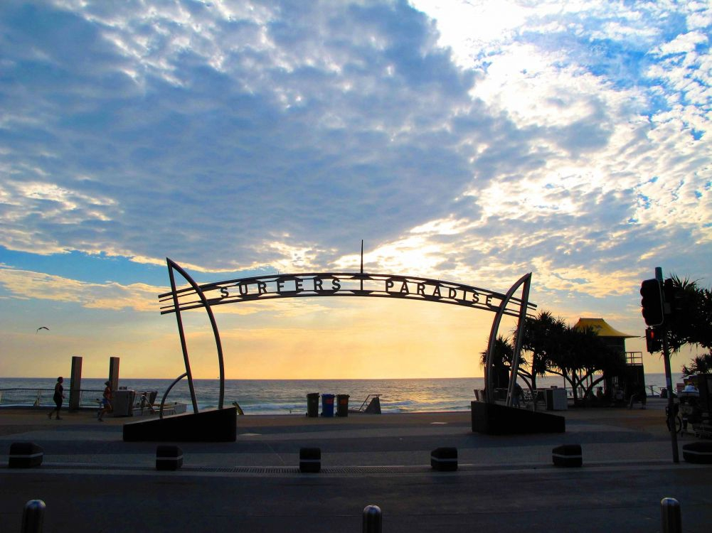 Sunrise at the famous Surfers Paradise Beachfront