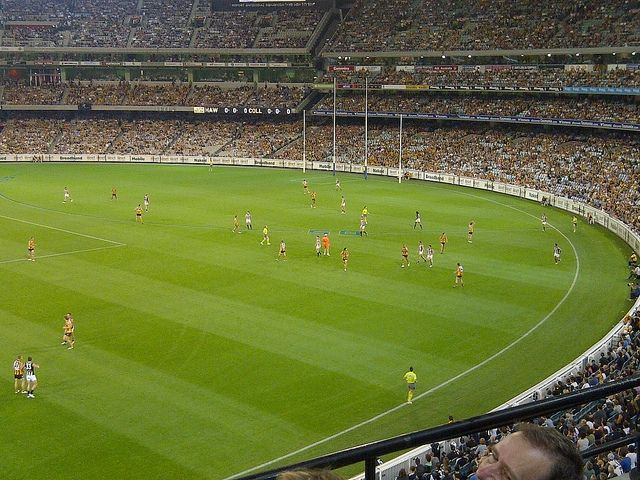A packed AFL stadium