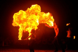 Fire Twirling on Sunday Nights at Burleigh