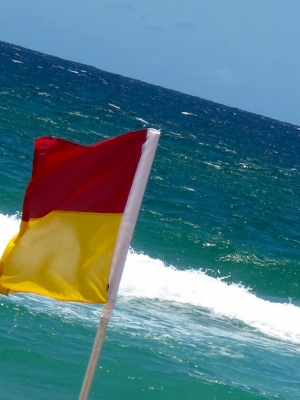 Red & Yellow Beach Flag