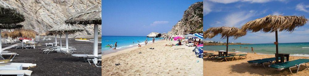 Santorini, Lefkada, Paros islands
