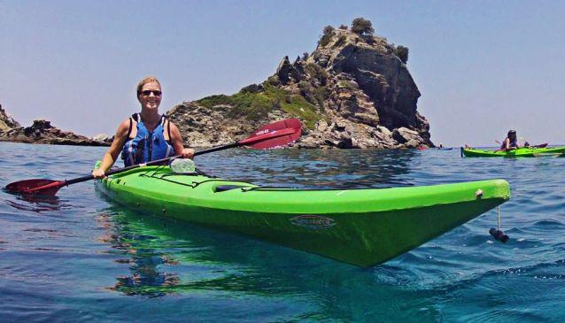 Sea kayak island hopping