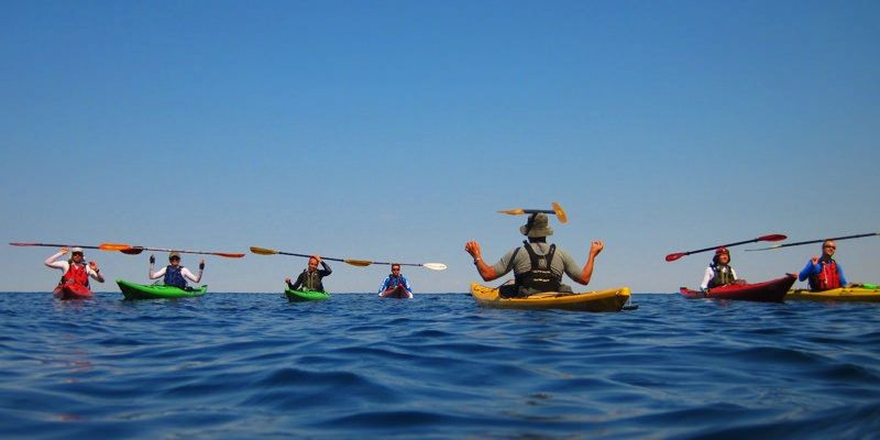 Sea kayaking in Greece