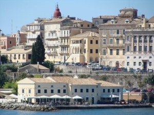 Corfu Old town view