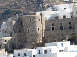 Naxos town view