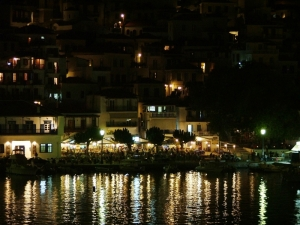Skopelos town by night