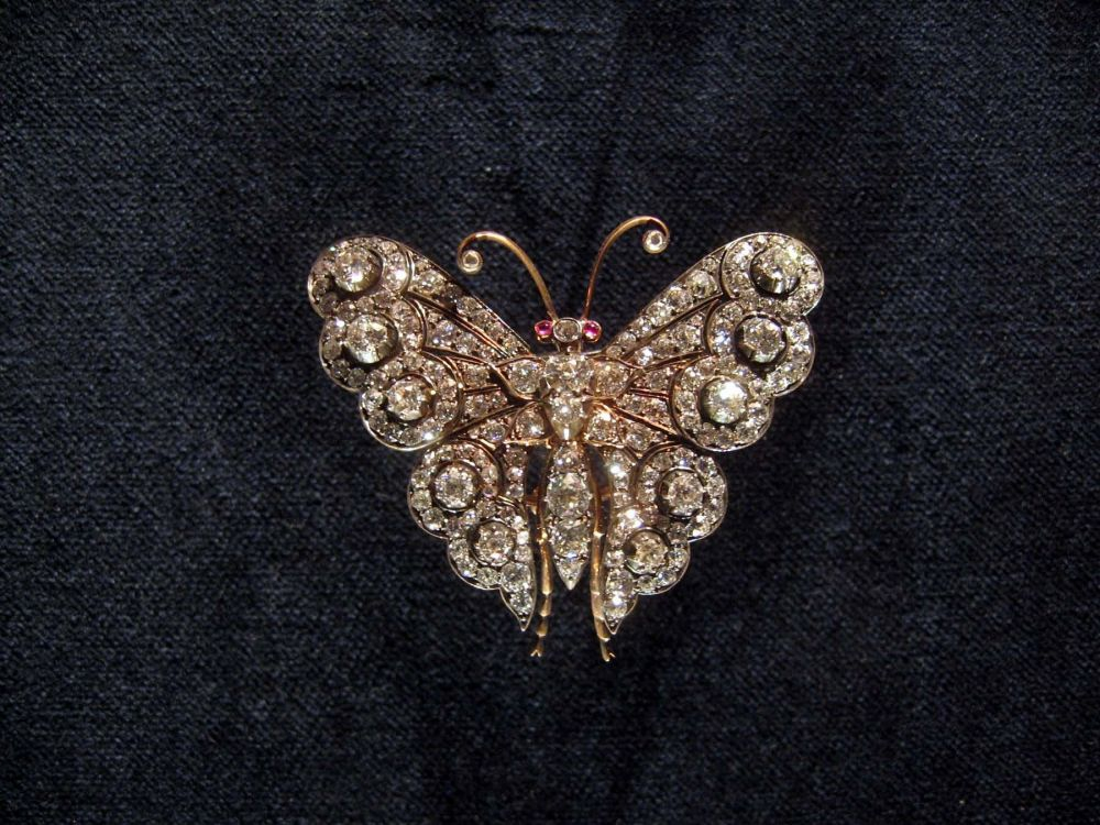 Butterfly Brooch Iolani Palace