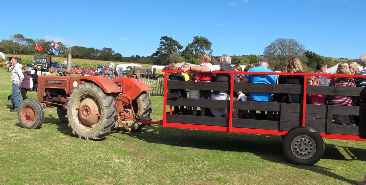 Tractor rides - IOW Sweetcorn Fayre