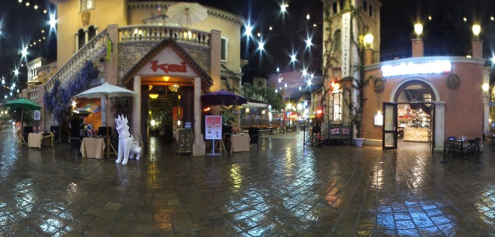 "In the ""night-time"" area of Montecasino"