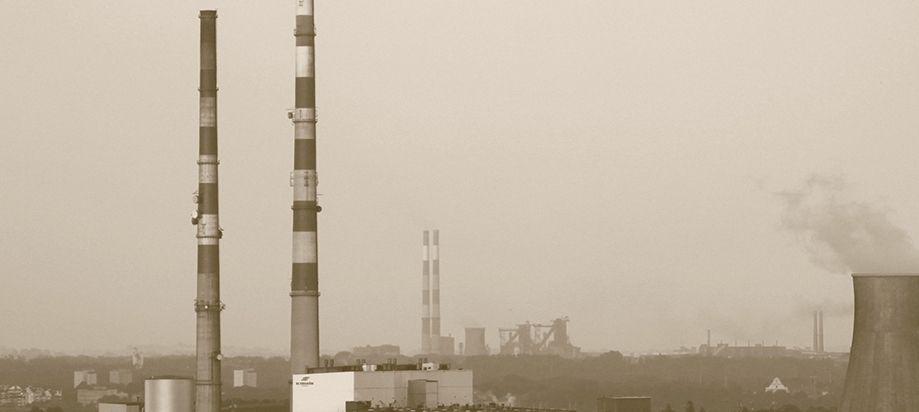 Nowa Huta Steel Mill in the distance