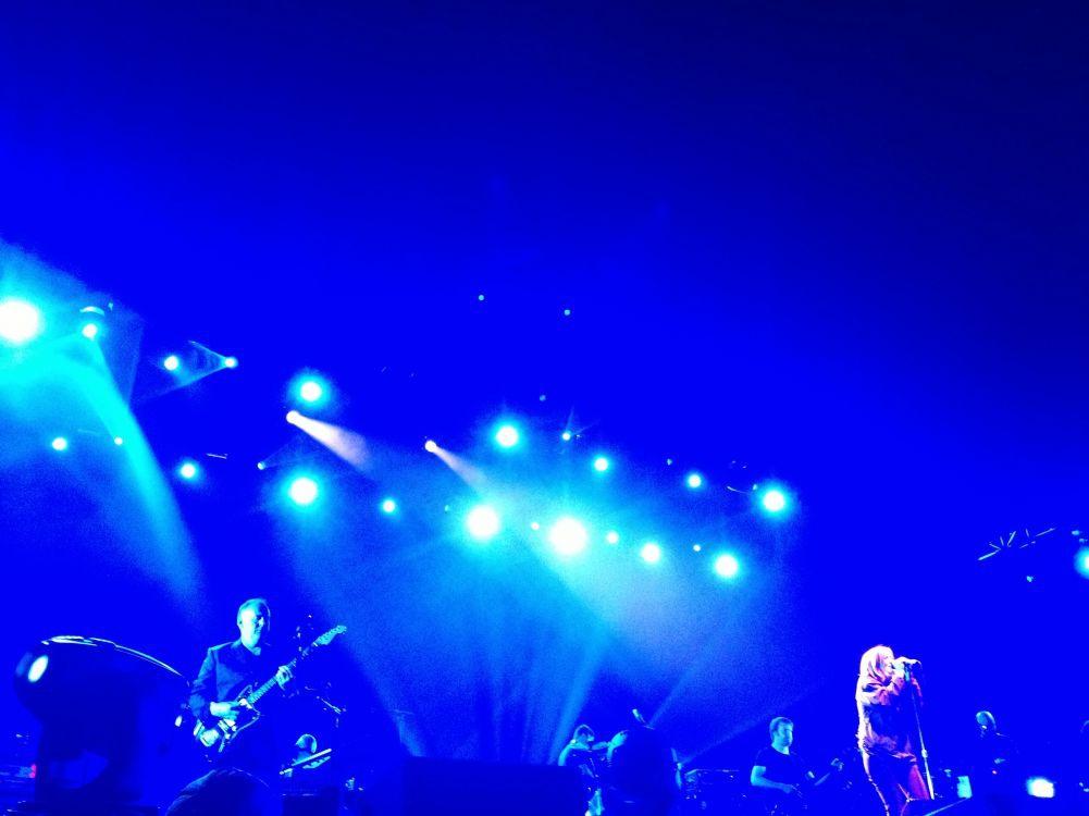 Portishead at concert in ArcelorMittal Steel Mill during Sacrum Profanum Festival.