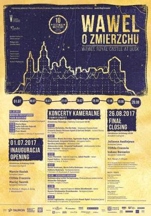 The 10th Wawel at Dusk Festival 1 July – 26 August 2017