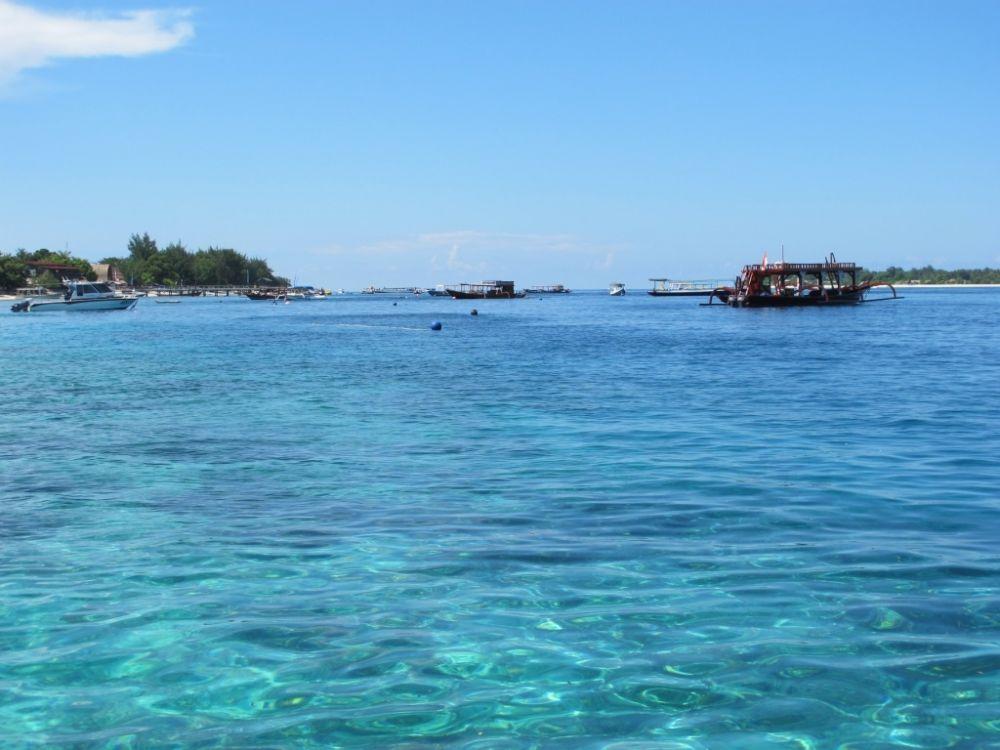 Dive boats off Gili Trawangan