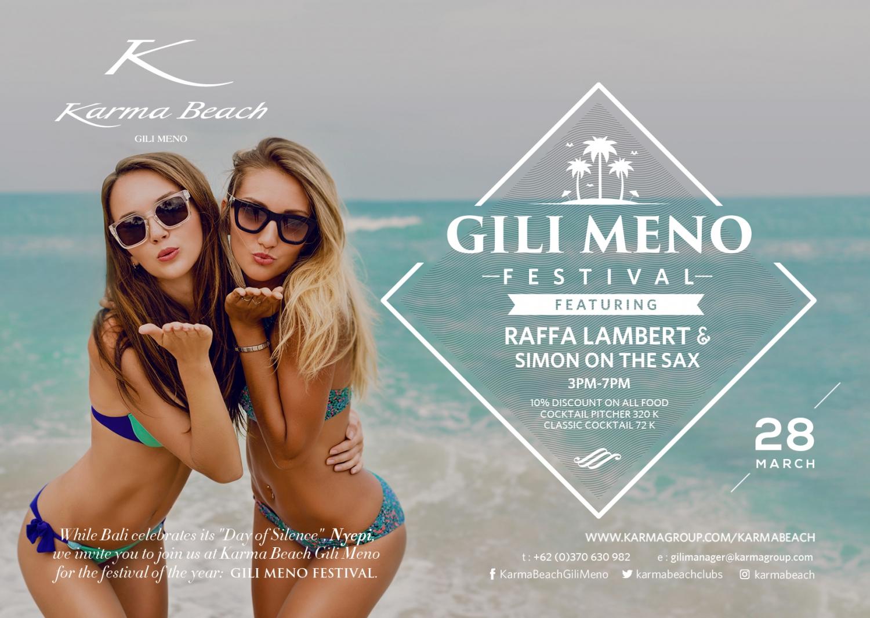 Gili Meno Festival @ Karma Reef