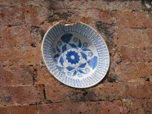 Ancient ceramic at Mayura Water Palace
