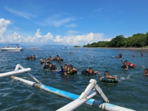 Children having fun in the water