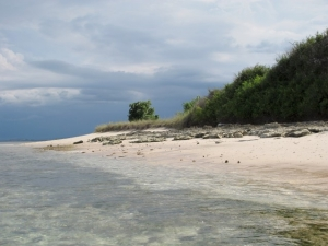 Clouds rolling in from East Lombok