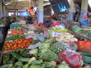 Kebon Roek Market - vegetable section