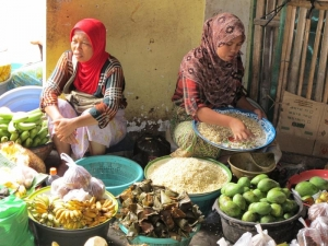 Ladies selling at the market