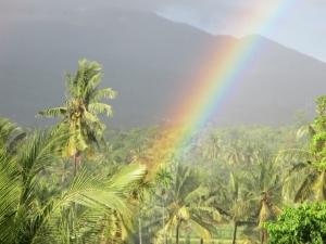 Rainbow over Rinjani