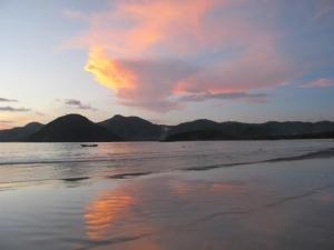 Sunset at Selong Blanak Beach