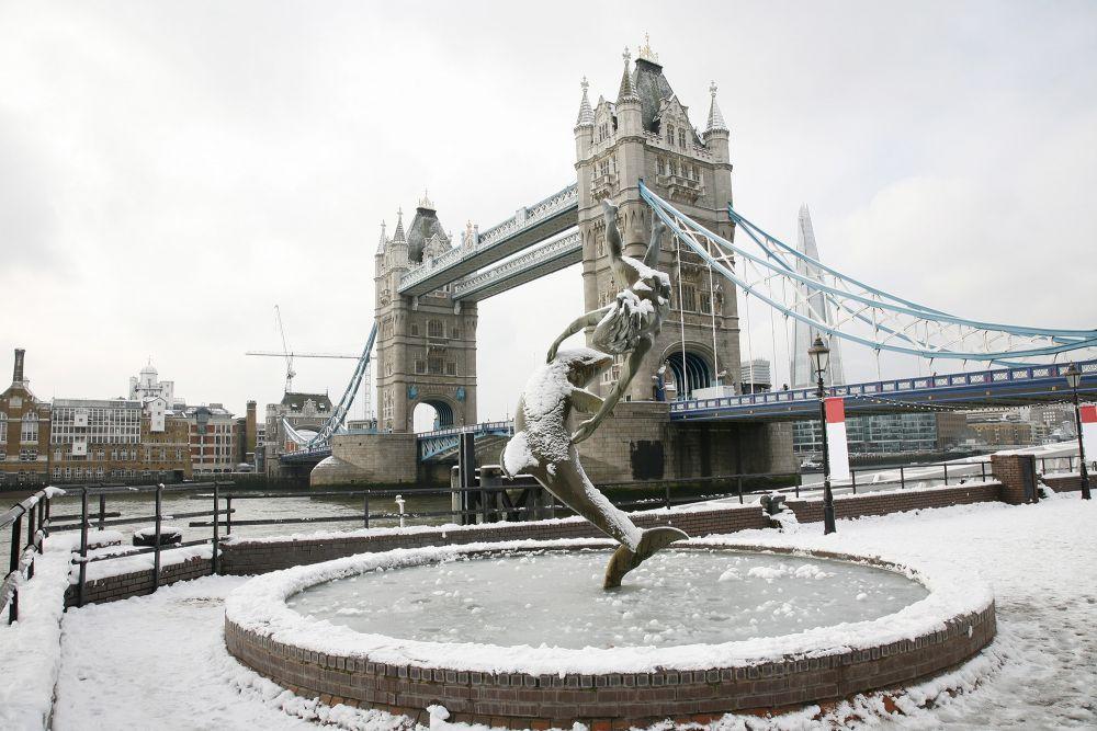 Wintery London