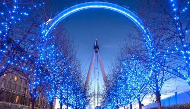 London Alight with Festive Glow