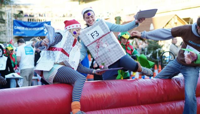 Festive fun at The Great Christmas Pudding Race