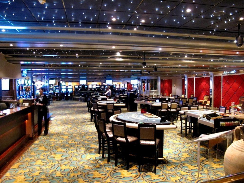 Casino floor viewed from the restaurant