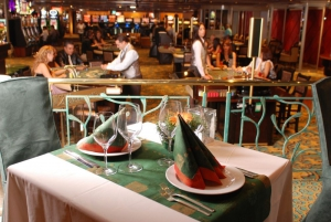 Restaurant table in the Casino