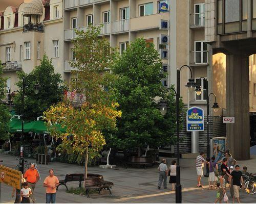Located on the main pedestrian street