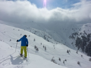 Off piste skiing is a must