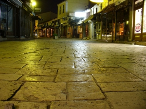 Old Bazaar at night (photo by: Novica Nakov)