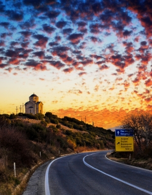 Church on Road (photo by: Rilind Hoxha)