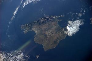 Astronaut Paolo Nespoli's view of Mallorca