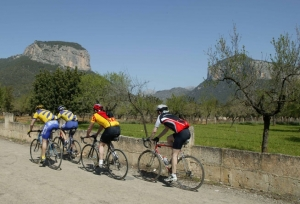 Cyclists near Alaró