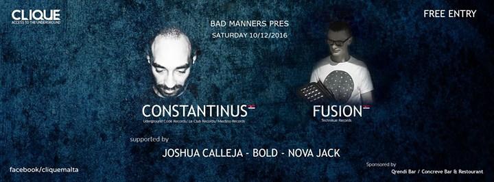 Bad Manners at Clique Pres. Constantinus / Fusion (SERBIA)