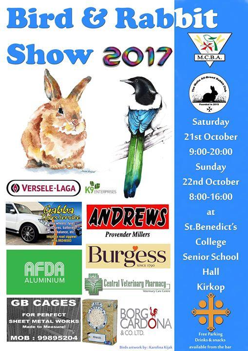 Bird & Rabbit Show (MCBA & The Malta all-breed Rabbit Club)
