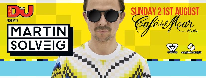 DJ Mag Presents: Martin Solveig at Cafe Del Mar Malta