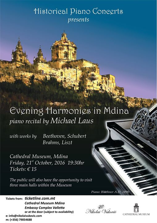 Evening Harmonies in Mdina - Piano Recital by Michael Laus