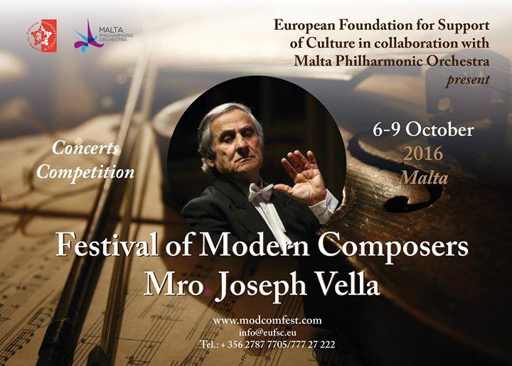 Festival of Modern Composers Mro Joseph Vella