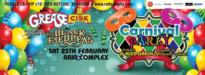 From Grease to Black Eyed Peas Carnival Party at Aria Club